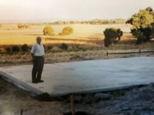 Eric Cumbers on the Cellar Door Slab