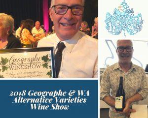 Mark at Geographe and WA Alternative Varieties Wine Show