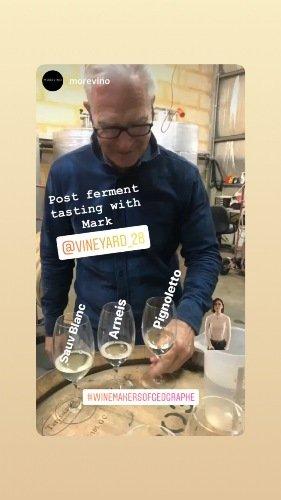 Winemaker in action