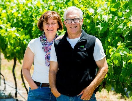 Mark and Pippa Owners of Vineyard 28